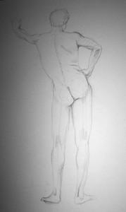 männlicher Akt (2002), Bleistift